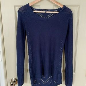Le Chateau Navy Knit Sweater
